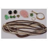JEWELRY. Assorted Jewelry Grouping Inc. Jade.