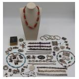 JEWELRY. Large Lot of Sterling Jewelry.