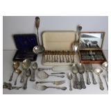SILVER. Large Grouping of Assorted Silver Flatware