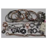 STERLING. Group of Contemporary Sterling Jewelry.