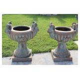 Vintage And Fine Quality Pair Of Patinated Bronze