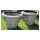 Vintage Fine Quality Pair Of Bacchanal Patinated