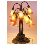 Tiffany Studios 12 Light Lilly Table Lamp.