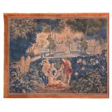 Large Antique Flemish Verdure Tapestry.