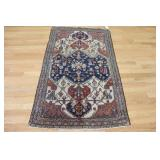 Antique And Finely Hand Woven Heriz Rug