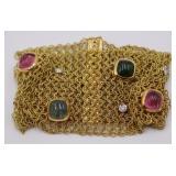 JEWELRY. Italian 18kt Gold, Colored Gem & Diamond