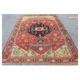 Antique and Finely Handmade Heriz Carpet.