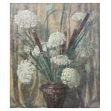 SIGNED Robert B. Oil on Canvas. Floral Still Life.