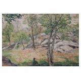 CAHAN, Samuel. Watercolor. Figure in Landscape.
