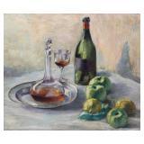 "TAYLOR, HM. Oil on Canvas. ""2nd Still Life""."