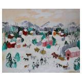 COBELLE, Charles. Oil on Canvas. Winter Scene.