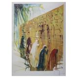 SIGNED DALI. Color Lithograph. Western Wall.