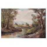 GATERMANN, K. G. Oil on Canvas. Landscape.