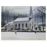 FERIOLA, James. Watercolor. Church in Winter.