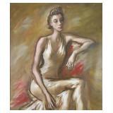 """CARROLL, John. Oil on Canvas. """"Betsy""""."""