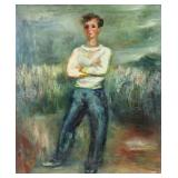 """ZUCKER, Jacques. Oil on Canvas. """"Young Man in the"""