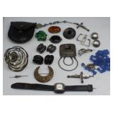 JEWELRY. Assorted Silver and Costume Jewelry.