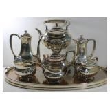 STERLING. 7 Pc. Tiffany & Co. Sterling Tea Service