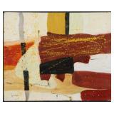 PONCE, Fernando Garcia. Oil on Paper. Untitled