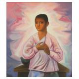 GALVAN, Jesus Guerrero. Oil on Canvas. Boy with