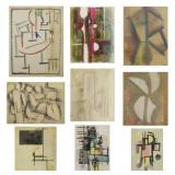 XCERON, Jean. Collection of 9 Works on Paper.