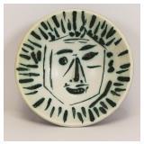 """PICASSO, Pablo. """"Full-Face Face"""" 1960 Ceramic"""
