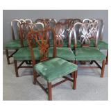 BAKER. Signed Set Of 8 Mahogany Chairs .