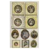 Collection of Ten (10) Miniature Portraits.