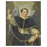 19th C. Oil on Copper. St Francis of Assisi.
