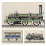 Collection of Three (3) 19th C. Locomotive