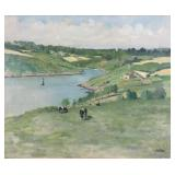 "WINTZ, Raymond. Oil on Canvas. ""Le Belon Morbihan"""