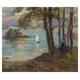 GILLET, Numa-Francois. Oil on Canvas. Coastal