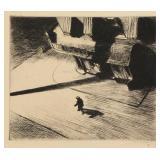 """HOPPER, Edward. Etching. """"Night Shadows"""" 1921."""