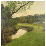 LATHROP, William. Oil on Canvas. Landscape with