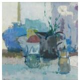 HELIKER, John. Oil on Canvas. Still Life with