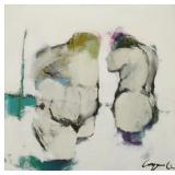 CONGE, Bob. Oil on Canvas. Two Nudes, 1962.