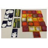 CAPRON, Roger. Lot of 32 Tiles.