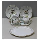 HEREND. Porcelain grouping To Inc a T Service and