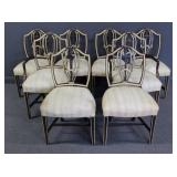 8 Adams Style Shield Back Chairs.