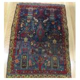 Antique and Finely Hand Woven Throw Rug