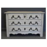 18 Century French Provincial Commod Painted White.
