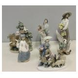 DAO by LLadro Grouping Of 6 Figures.