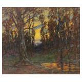 McCREA, Samuel Harkness. Oil on Canvas. Autumnal