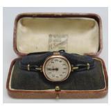JEWELRY. Rolex 9ct and Enamel Ladies Watch.