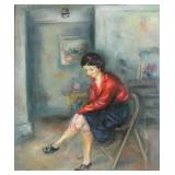 ZUCKER, Jacques. Oil on Canvas. Figure with