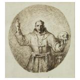 GIANI, Felice. Pen and Ink. St. Francis with a