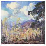 LITZINGER, Dorothea. Oil On Canvas. Landscape.