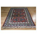 Vintage and Finely Hand Woven Area Carpet.