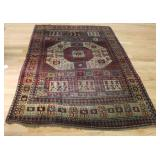 Antique and Finely Hand Woven Kazak Style Carpet.