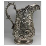 SILVER. S.Kirk & Son Coin Silver Pitcher.